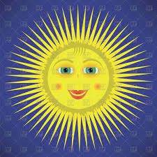 Flag Yellow Sun Yellow Cartoon Sun Royalty Free Vector Clip Art Image 100946
