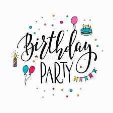 happy birthday simple design happy birthday party lettering typography stock illustration