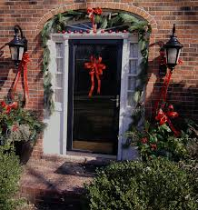 appealing vintage wooden double door combined modest wreath with