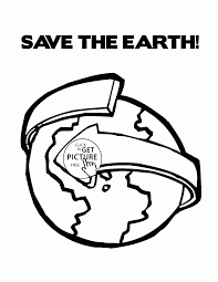 save the earth happy earth day coloring page for kids coloring