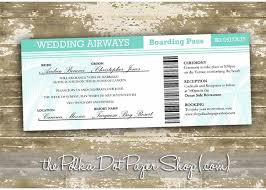 boarding pass invitations boarding pass wedding invitation 0305 the polka dot paper shop