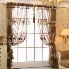 Yarn Curtains White Beautiful Dandelion Summer Embroidered Sheer Curtains