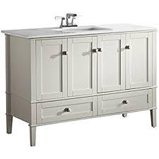simpli home chelsea 48 bath vanity with white quartz marble top