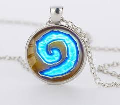 necklace pendant charm images Hearthstone glass round pendant charm necklace atperrys jpg