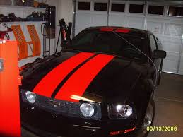 Black Mustang With Stripes S197 Black With Red Stripes Mustang Evolution