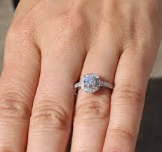 2 carat halo engagement ring halo engagement ring 67 cttw 1 2 carat center