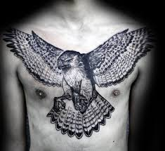Chest Tattoos - 80 eagle chest designs for manly ink ideas