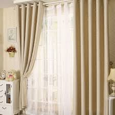 Blackout Curtains For Bedroom Anself 2pcs 100 250cm Modern Punching Grommet Blackout Curtain
