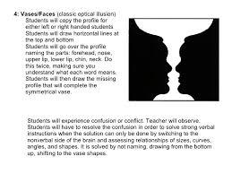 Vase Faces Illusion Line Shape Form Value