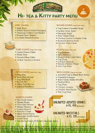 jungle jamboree menu menu for jungle jamboree connaught place