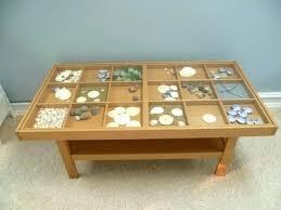 glass top display coffee table display coffee table home design
