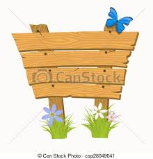 wooden sign boards on a grass vector illustration isolated eps