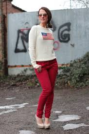 Flag Sweater Flag Sweater And Red Pant On My Fashion Blog