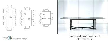8 person table dimensions 6 person table dimensions fascinating 8 person dining room table
