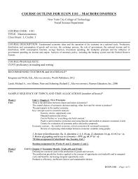 course outline for econ 1101 u2013 macroeconomics