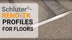 Metal Tile Transition Strip by How To Install A Tile Transition On Floors Schluter Reno Tk