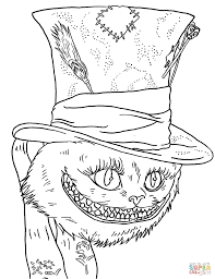 tim burton u0027s cheshire cat coloring page free printable coloring