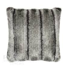 White Fur Cushions Grey Textured Faux Fur Throw U2013 Alaskan Ash
