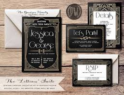 20 deliciously art deco wedding invitations chic vintage brides