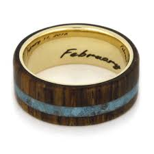 Turquoise Wedding Rings by Turquoise Wedding Ring Set Moissanite Ring With Wood Band