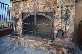 Arched Fireplace Doors by Stone Fireplace Custom Doors Fireplace Door Guy