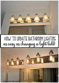 trash to treasure how to paint a bathroom light fixture lights