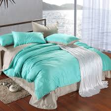 Grey Silk Comforter Modern Grey And Turquoise Silk Down Comforter With Gray Silk Bed