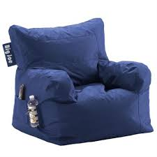 big joe blue bean bag chair rc willey furniture store