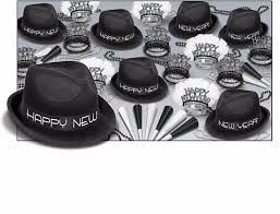 new years party kits black white new year s theme party kits that include hats