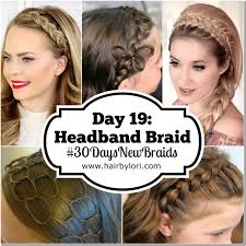 braided hair headband day 19 headband braid hair by lori