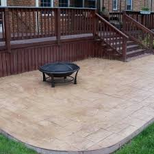 How Much To Concrete Backyard Flooring U0026 Rugs Best Stamped Concrete Patio For Your Home
