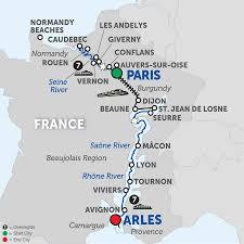 Lyon France Map Paris To Cote D U0027azur Cruise Avalon France River Cruise