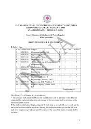 b tech cse r13 syllabus