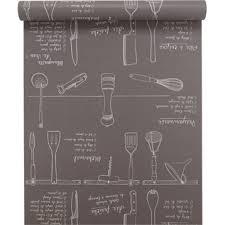 papier peint cuisine leroy merlin papier peint papier inspire marmiton noir larg 0 53 m leroy