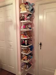 stuffed animal storage for small room using ikea algot shelves