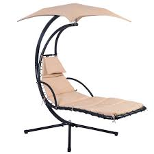 Hanging Chaise Lounge Chair Garden Swing Hammock Helicopter Hanging Chair Seat Sun Lounger