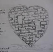 broken heart pencil drawings pencil sketches of broken hearts boy