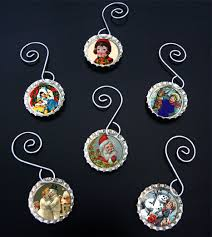 make your own photo bottle cap ornaments kit 12 small