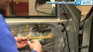 how to install replace front inside door handle toyota camry 92 96