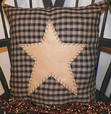 country star home decor primitive rustic country decor pillow cover barn star primitive