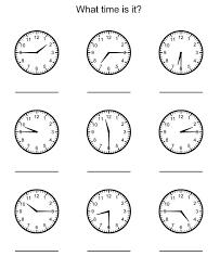 free worksheets 1st grade clock worksheets free math