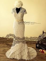 dainty cream color underlay lace wedding dress with keyhole back