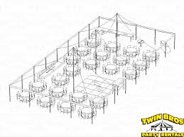 Round Table Seating Capacity 40x80 Pole Tent Layouts Pictures Diagrams Rentals