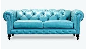 Teal Blue Leather Sofa Turquoise Leather Sofa Adrop Me