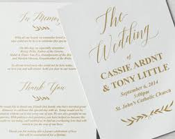 wedding programs with pictures wedding program etsy