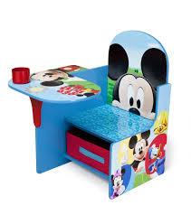 disney mickey mouse delta children chair desk with stroage bin for