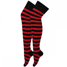 halloween socks halloween over the knee red u0026 black ladies thigh high striped socks