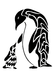emperor penguins tribal by saturnsdragon on deviantart