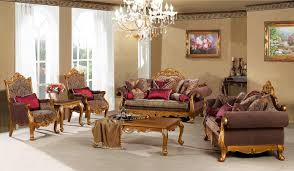 furniture living room design with brown luxury baroque sofa feat