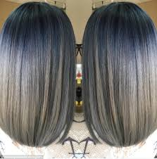 coloring gray hair with highlights hair highlights for denim hair is the latest trend as women dye their hair purple blue